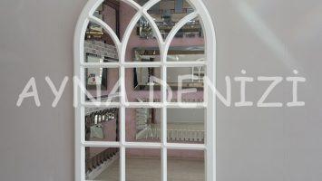 Savona Model Beyaz Renk Dekoratif Pencere Ayna