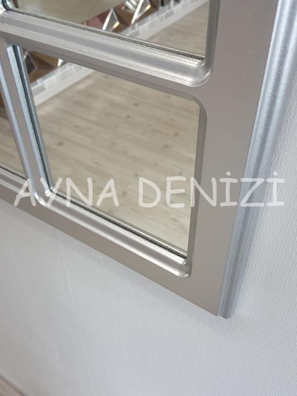 Savona Model Gümüş Renk Dekoratif Pencere Ayna-14