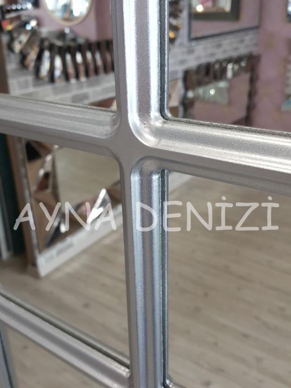 Savona Model Gümüş Renk Dekoratif Pencere Ayna-16
