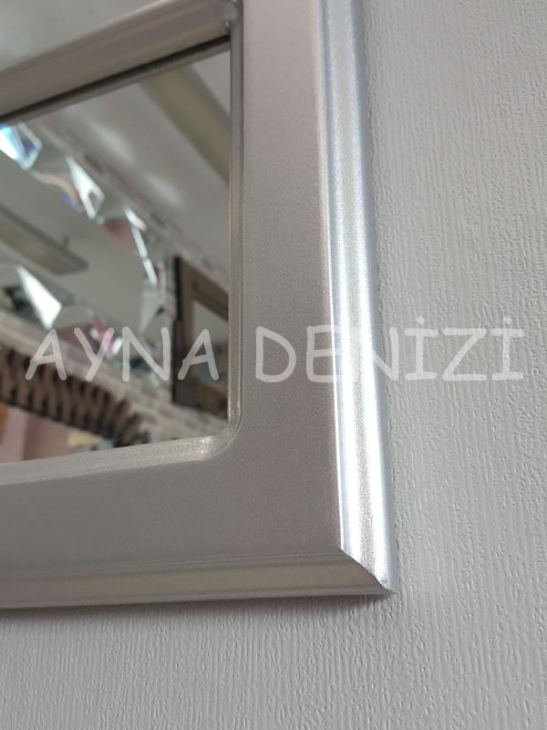 Savona Model Gümüş Renk Dekoratif Pencere Ayna-18