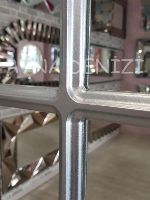 Savona Model Gümüş Renk Dekoratif Pencere Ayna-20