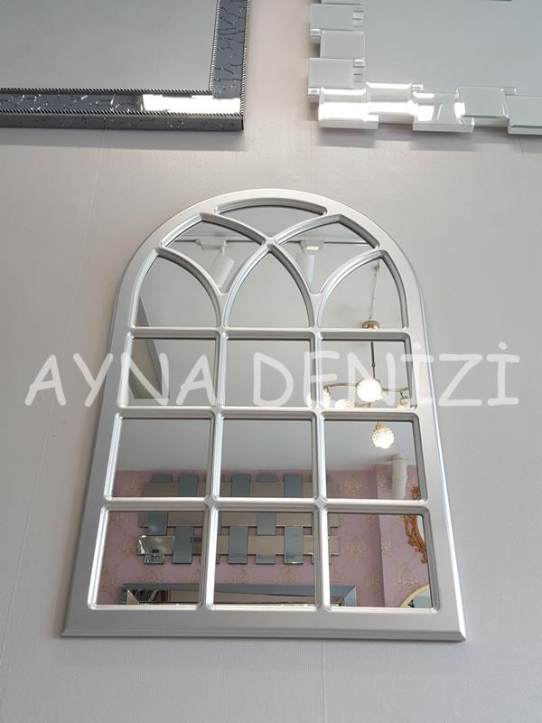 Savona Model Gümüş Renk Dekoratif Pencere Ayna-7