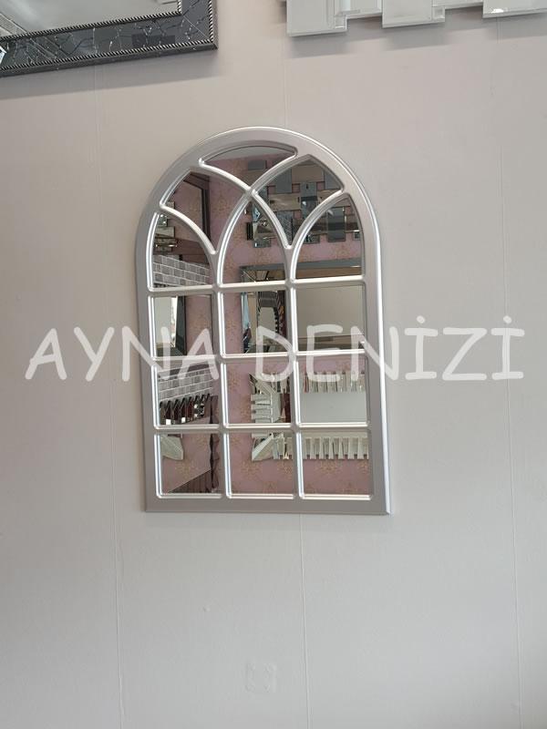 Savona Model Gümüş Renk Dekoratif Pencere Ayna-9