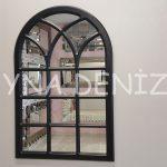 Savona Model Siyah Renk Dekoratif Pencere Ayna-1