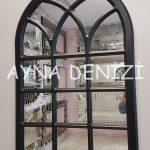 Savona Model Siyah Renk Dekoratif Pencere Ayna-10
