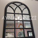 Savona Model Siyah Renk Dekoratif Pencere Ayna-11