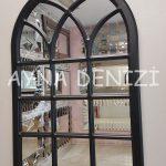 Savona Model Siyah Renk Dekoratif Pencere Ayna-12