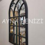 Savona Model Siyah Renk Dekoratif Pencere Ayna-13