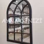 Savona Model Siyah Renk Dekoratif Pencere Ayna-14