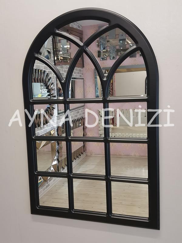Savona Model Siyah Renk Dekoratif Pencere Ayna-15