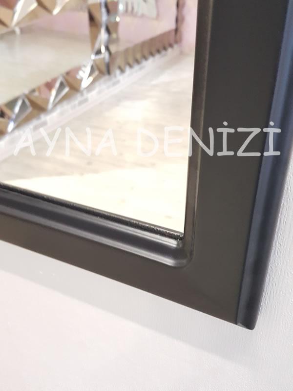 Savona Model Siyah Renk Dekoratif Pencere Ayna-16