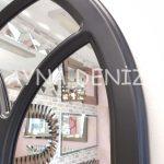 Savona Model Siyah Renk Dekoratif Pencere Ayna-18
