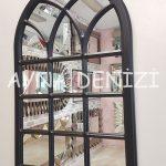 Savona Model Siyah Renk Dekoratif Pencere Ayna-2