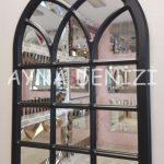 Savona Model Siyah Renk Dekoratif Pencere Ayna-20