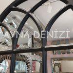 Savona Model Siyah Renk Dekoratif Pencere Ayna-22