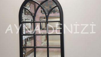 Savona Model Siyah Renk Dekoratif Pencere Ayna