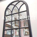 Savona Model Siyah Renk Dekoratif Pencere Ayna-4