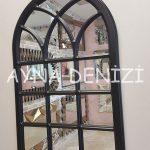 Savona Model Siyah Renk Dekoratif Pencere Ayna-5