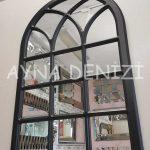 Savona Model Siyah Renk Dekoratif Pencere Ayna-6