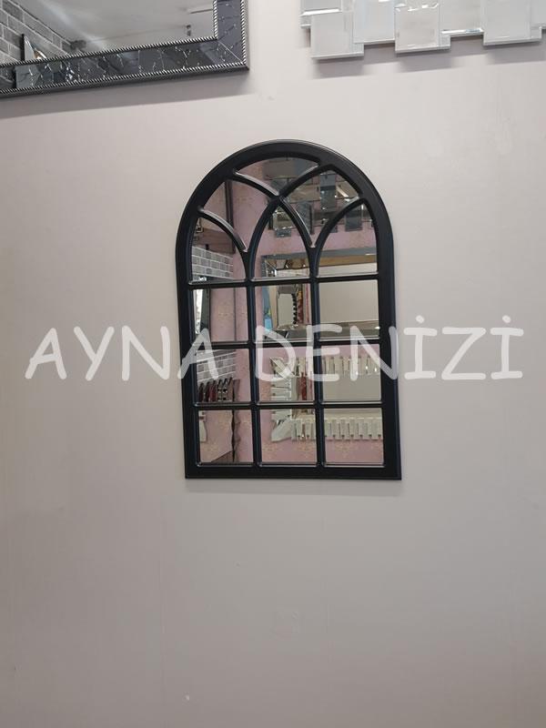 Savona Model Siyah Renk Dekoratif Pencere Ayna-8