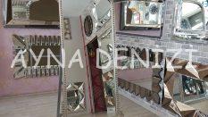 Sinyora Model Gümüş Renk Ayaklı Boy Aynası